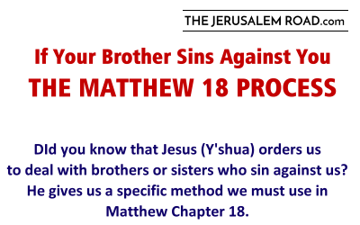 If Your Brother Sins Against You – The Matthew 18 Process