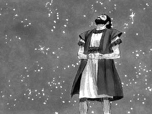 Abraham looking up at the stars