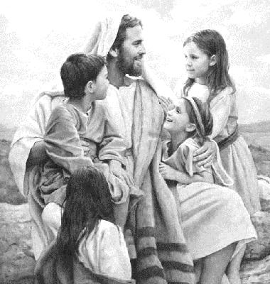 bart-jesus-with-children